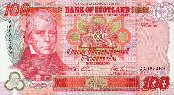 scottish 100 pound note � prosperity for life � real